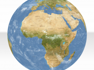 Interaktivt 3d verdenskort test